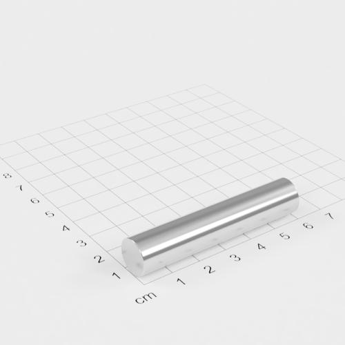 Neodym Stabmagnet, 12x60mm, vernickelt, Grade N38