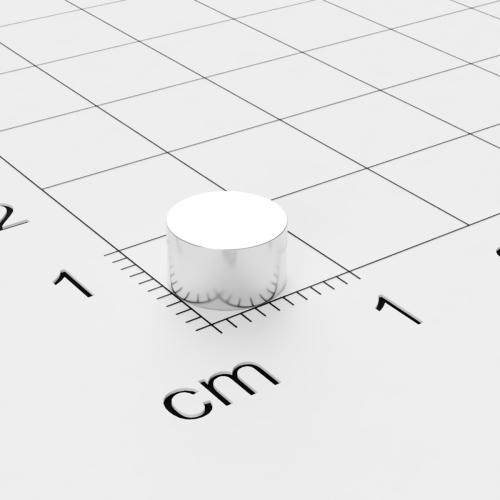 Neodym Scheibenmagnet, 7x4 mm, vernickelt, Grade N45