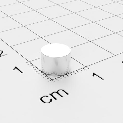 Neodym Scheibenmagnet, 7x5 mm, vernickelt, Grade N45