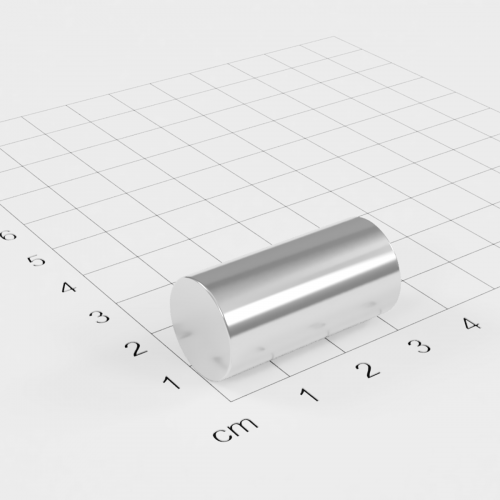 Neodym Stabmagnet, 15x30mm, vernickelt, Grade N45