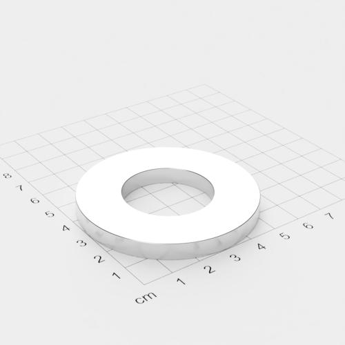 Neodym Ringmagnet, 60x6mm mit 30mm Bohrung, vernickelt, Grade N45