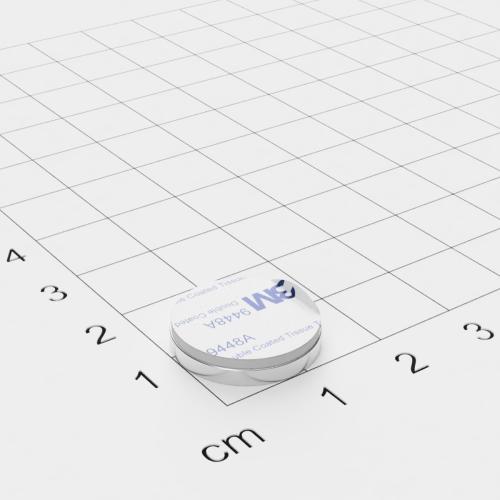 Metallscheibe 16x2mm selbstklebend 3M-Haftgrund Polsterschaum