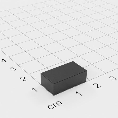 Ferrit Quadermagnet, 18x10x6mm, Grade Y30