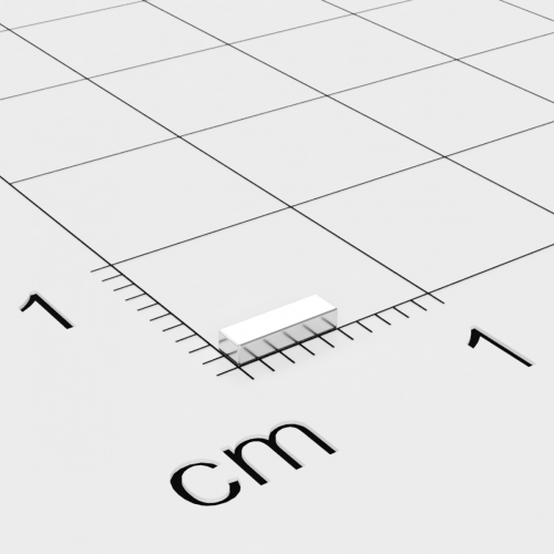 Neodym Quadermagnet 5x1.5x1mm, vernickelt, Grade N45