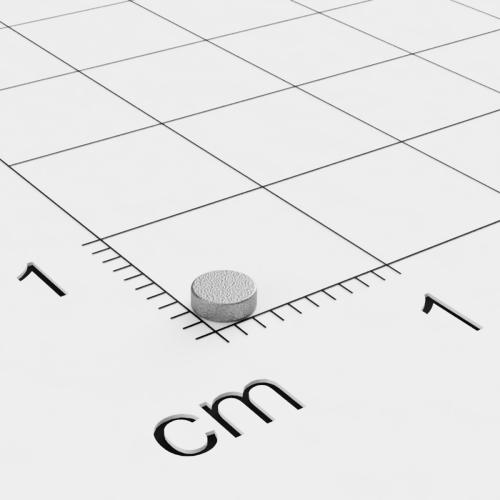 SmCo Scheibenmagnet, 3x1mm, vernickelt, Grade S280