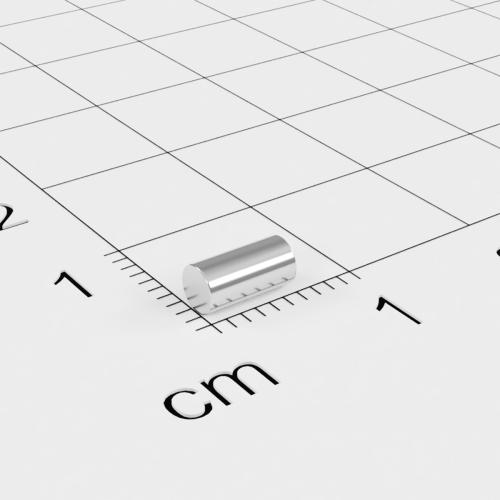 Neodym Stabmagnet, 3x6mm, vernickelt, Grade N48