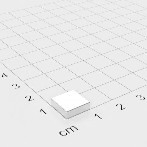 Neodym Quadermagnet, 10x10x3mm, vernickelt, Grade N45