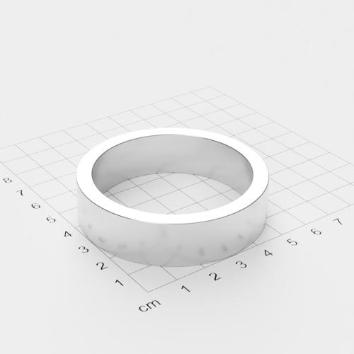 Maße Neodym Ringmagnet, 60x15mm mit 50mm Bohrung, vernickelt, Grade N45