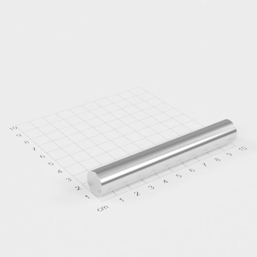 Neodym Stabmagnet, 15x100mm, vernickelt, Grade N35