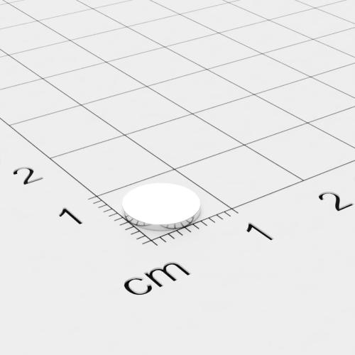 Neodym Scheibenmagnet, 8x0.75mm, vernickelt, Grade N35