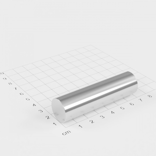 Neodym Stabmagnet, 19x70mm, vernickelt, Grade N35