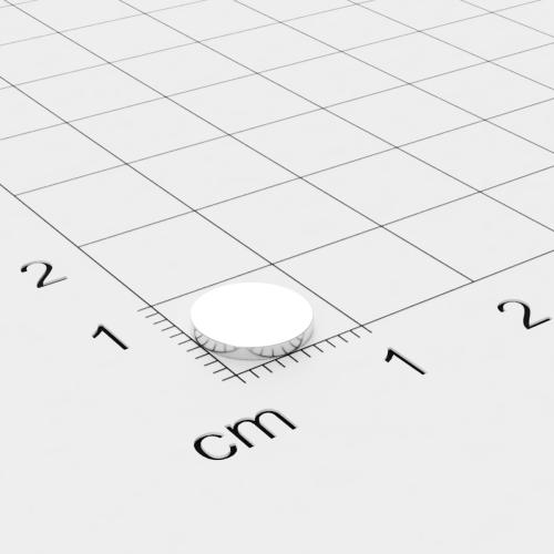 Neodym Scheibenmagnet, 8x1mm, vernickelt, Grade N45