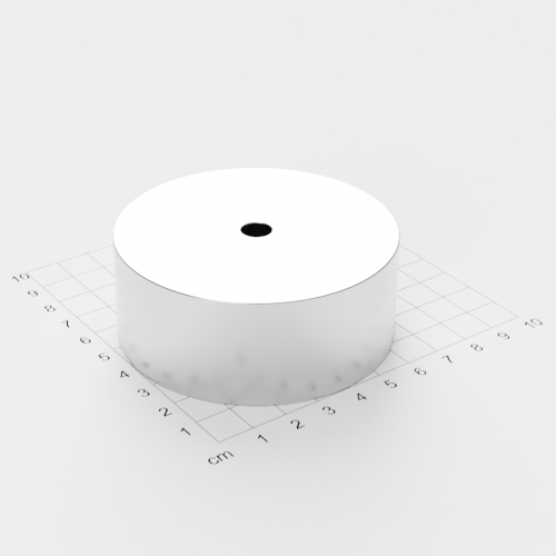 Neodym Ringmagnet, 75x30mm mit 8mm Bohrung, vernickelt, Grade N50