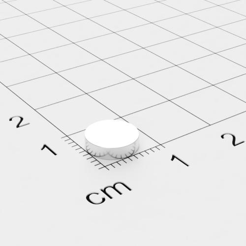 Neodym Scheibenmagnet, 8x2mm, vernickelt, Grade N40