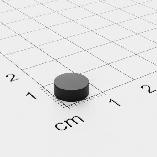 Neodym Scheibenmagnet, 8x3mm, Grade N45, Epoxidharz-beschichtet