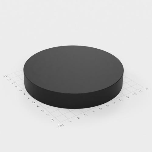 Neodym Scheibenmagnet, 120x20mm, schwarze Epoxyd-Beschichtung, Grade N52
