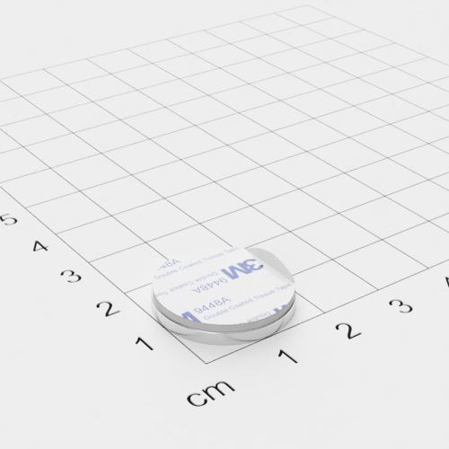 Metallscheibe 20x2mm selbstklebend 3M-Haftgrund Polsterschaum