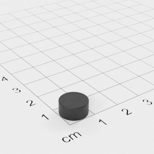Ferrit Scheibenmagnet, 10x5 mm, Grade Y30