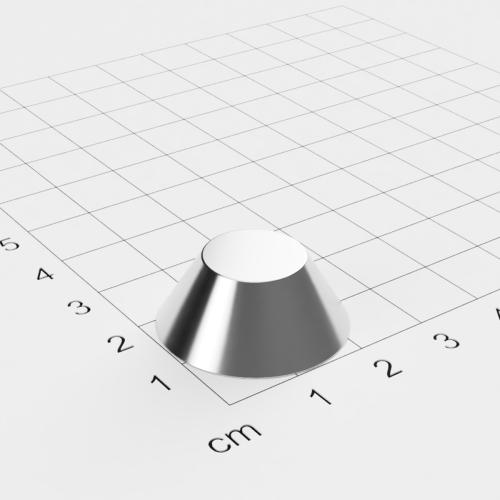 Neodym Konusmagnet, 25x13x10mm, vernickelt, Grade N38