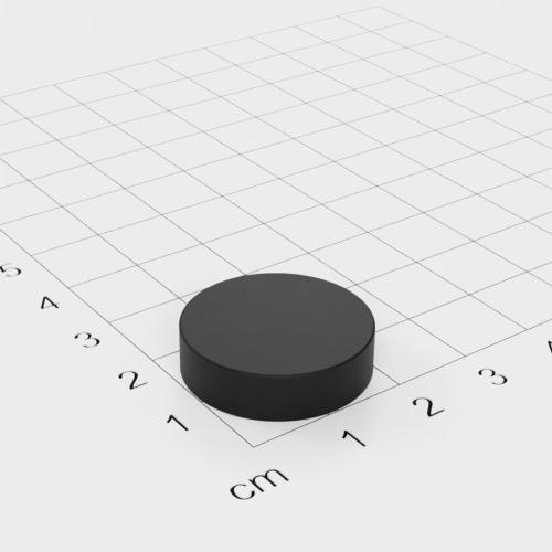 Gummierter Neodym Scheibenmagnet, 22x6mm, vernickelt, Grade N42
