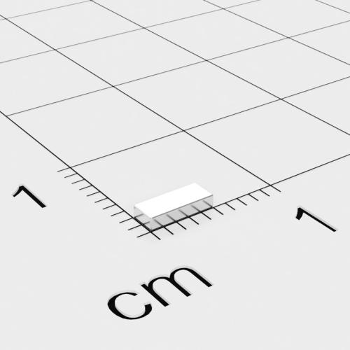 Neodym Quadermagnet, 5x2x1mm, vernickelt, Grade N45