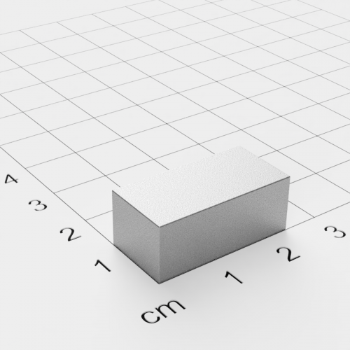 SmCo Quadermagnet, 25x9,5x12mm, vernickelt, Grade S280
