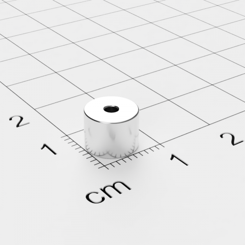 Neodym Ringmagnet, 8x6mm mit 2mm Bohrung, vernickelt, Grade N50