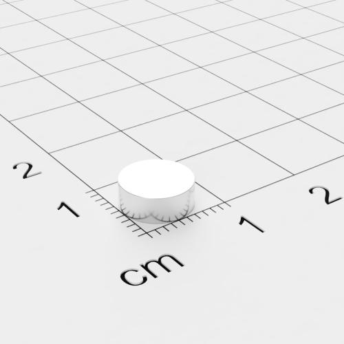 Neodym Scheibenmagnet, 8x3mm, vernickelt, Grade N45