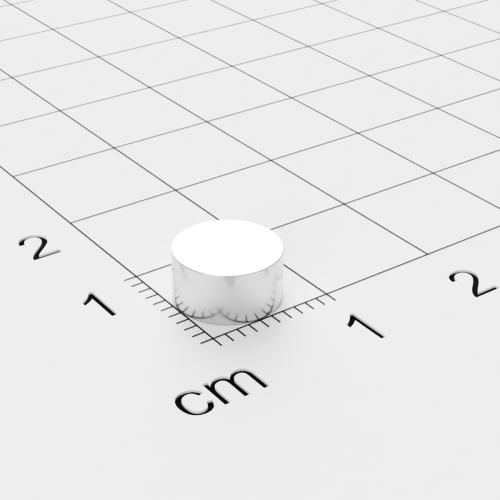 Neodym Scheibenmagnet, 8x4mm, vernickelt, Grade N45