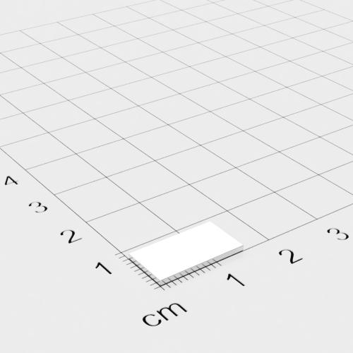 Neodym Quadermagnet, 15x8x1mm, vernickelt, Grade N35