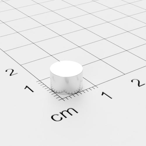 Neodym Scheibenmagnet, 8x5mm, vernickelt, Grade N42SH bis 150°C