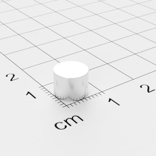 Neodym Scheibenmagnet, 8x6mm, vernickelt, Grade N45