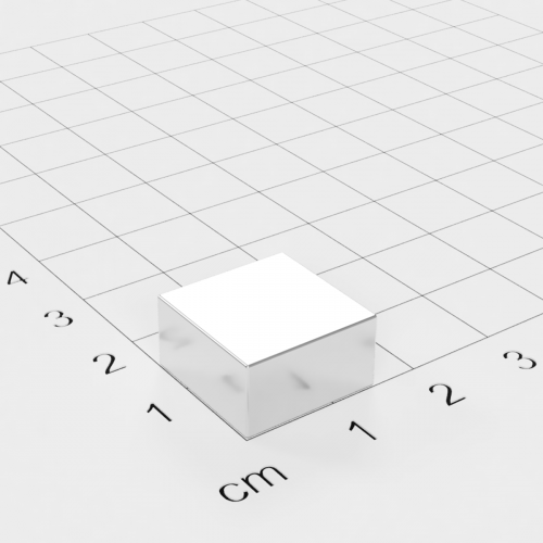 Neodym Quadermagnet, 15x15x8mm, vernickelt, Grade N42