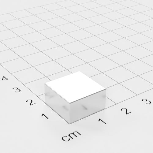 Neodym Quadermagnet, 15x15x8mm, vernickelt, Grade N45