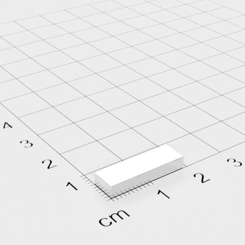 Neodym Quadermagnet, 19x3x6mm, vernickelt, Grade N42
