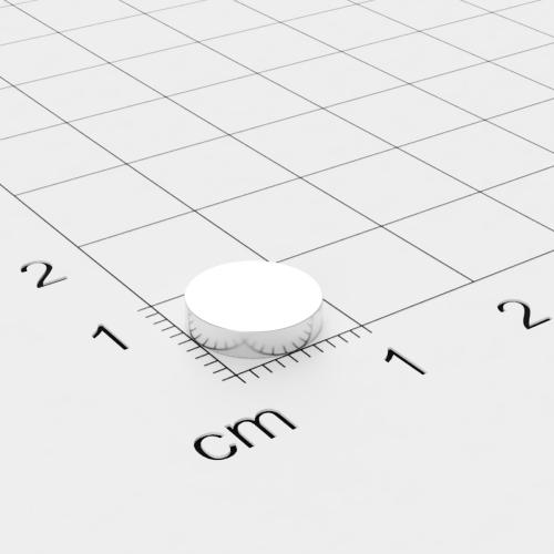 Neodym Scheibenmagnet, 9x2 mm, vernickelt, Grade N50