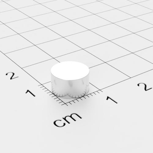 Neodym Scheibenmagnet, 9x5 mm, vernickelt, Grade N50