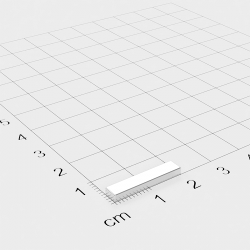 Neodym Quadermagnet, 20x4x2mm, vernickelt, Grade N45