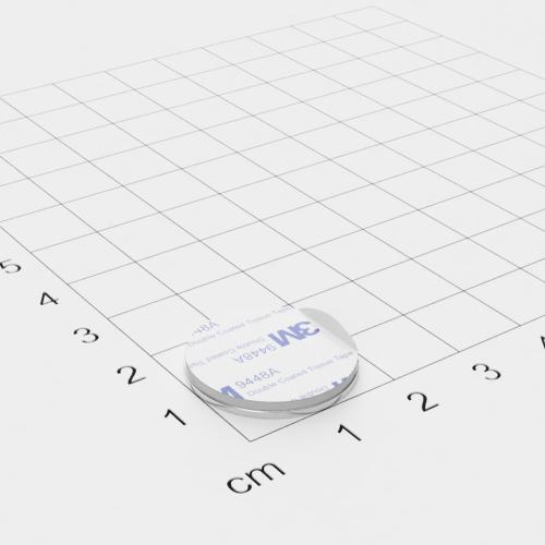 Metallscheibe 20x1mm selbstklebend 3M-Haftgrund Polsterschaum