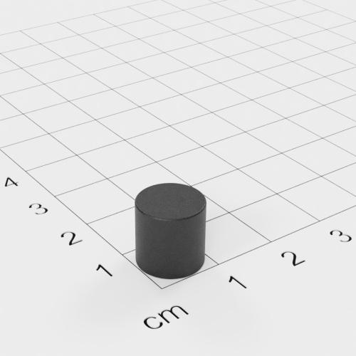 Ferrit Scheibenmagnet, 10x10 mm, Grade Y30