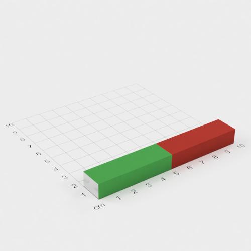 Quadermagnet - Schulmagnet für Experimente - 100x15x10mm