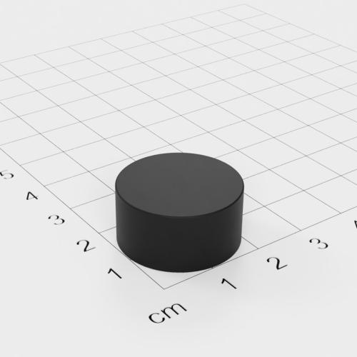 Gummierter Neodym Scheibenmagnet, 22x11mm, vernickelt, Grade N42