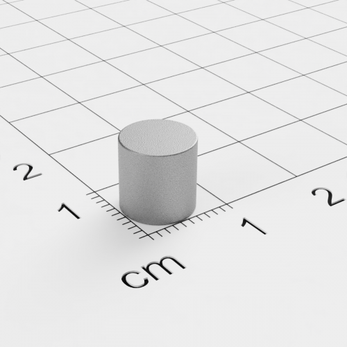 SmCo Scheibenmagnet, 8x8mm, vernickelt, Grade S280