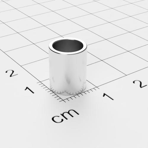 Neodym Ringmagnet, 9x11mm mit 7mm Bohrung, vernickelt, Grade N50