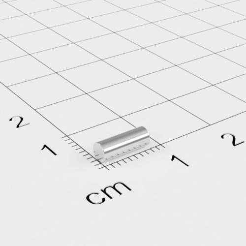 Neodym Stabmagnet, 3x8mm, vernickelt, Grade N48
