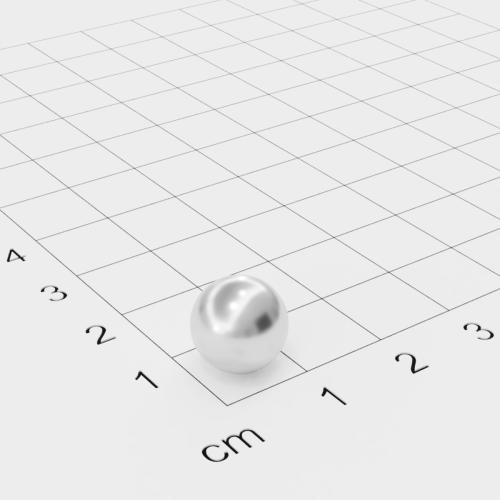 Neodym Kugelmagnet, Ø10mm, verchromt, Grade N35