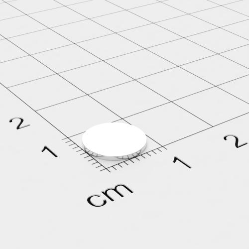 Neodym Scheibenmagnet, 9.5x0.75mm, vernickelt, Grade N35