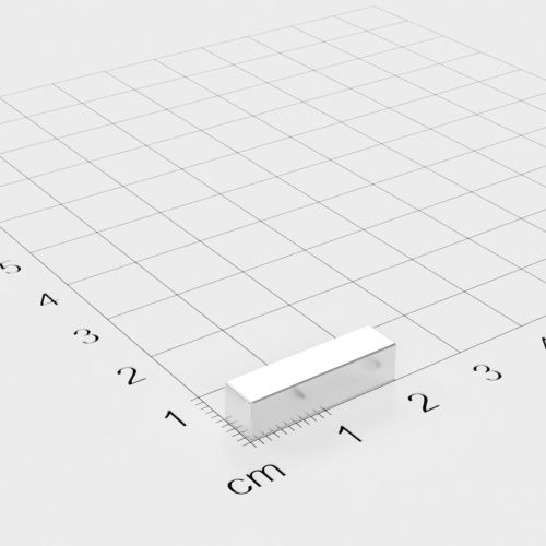 Neodym Quadermagnet, 20x5x5mm, vernickelt, Grade N52