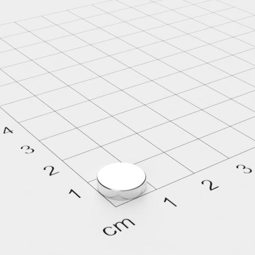 Neodym Scheibenmagnet, 10x2.5 mm, vernickelt, N42