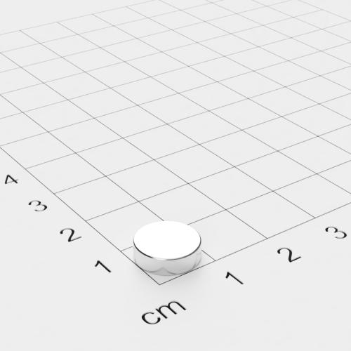 Neodym Scheibenmagnet, 10x3mm, vernickelt, Grade N28H